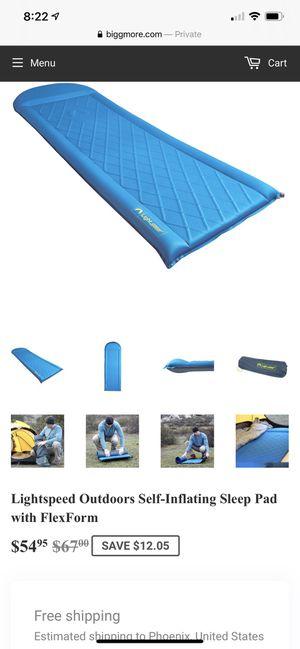 Light speed outdoor sleep pad. Camping mattress. for Sale in Phoenix, AZ