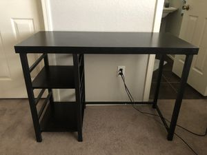 Black Wooden/Metal Desk for Sale in Phoenix, AZ