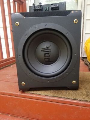 "12"" dxi 1240 in box and pa880 polk audio amplifier. Best offer for Sale in Harwood, MD"