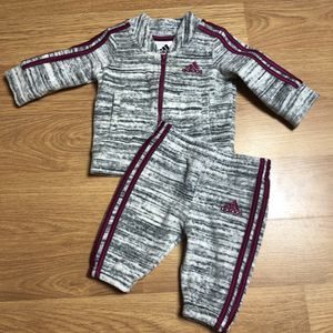 Adidas babygirl sweats outfit size 3 Months for Sale in Las Vegas, NV