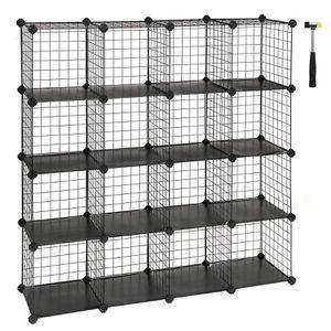 16-Cube Metal Wire Storage Cube, Storage Shelves Organizer - $35 for Sale in Azusa, CA