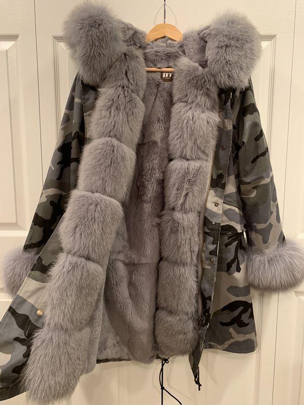 Super Warm Winter Parka /Brand New / Never Worn /Fox & Rex Rabbit Fur * Inside is lined with ultra soft real Rex Rabbit fur / detachable * Fox fur