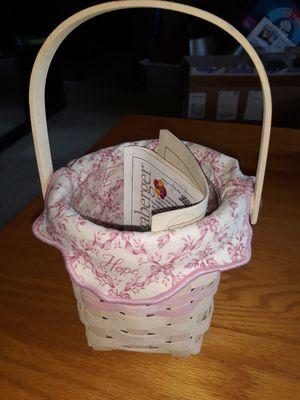 Longaberger breast cancer basket for Sale in Street, MD