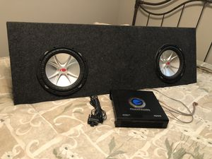 10 in Kicker Woofers and Planet Audio 1500 watts Amp for Sale in Vinton, LA