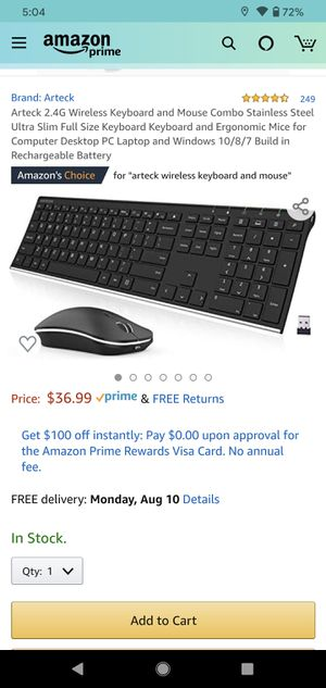 USB wireless mouse and keyboard for Sale in South Gate, CA