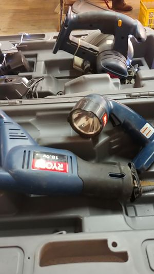 Ryobi power tool set with case for Sale in Revere, MA