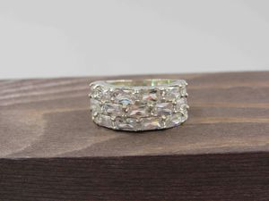 Size 6 Sterling Silver Unique CZ Diamond Band Ring Vintage Wedding Engagement Anniversary Cute Elegant Statement Everyday Jewelry Retro Cool for Sale in Lynnwood, WA