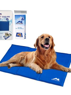Whalek Cooling Mat Pressure Activated Chilly Dog Cat Bed Gel Mat Blue with Pet Pooper Comb,Perfect for Floors, Couches, Car Seats, Pet Beds & Kennels for Sale in Los Angeles, CA