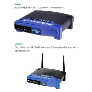 Cisco-Linksys Cable Modem and Broadband Router with SpeedBooster for Sale in Ashburn, VA