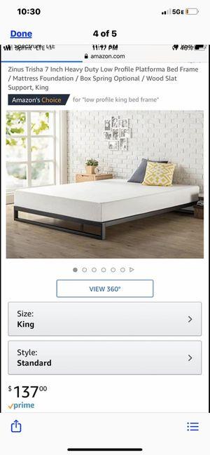 King size platform bed frame for Sale in Columbus, OH