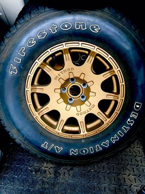 Method Roost Bronze wheels and Firestone Destination A/T off road tires for Sale in Seattle, WA