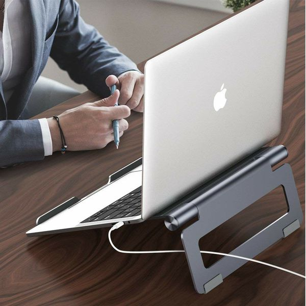 Nulaxy Adjustable Stand, Laptop Table Aluminum Notebook Holder Stand Compatible with Apple MacBook, Air, Pro, Dell XPS, HP, Samsung,