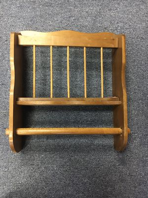 Wood Paper Towel Magazine Mail Rack for Sale in St. Peters, MO