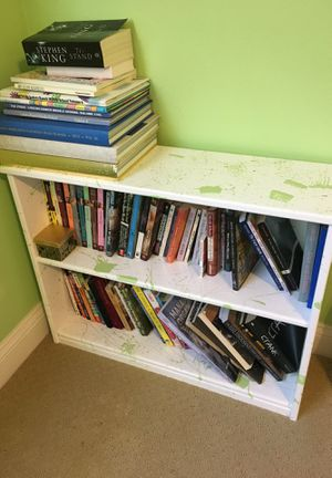 White with Lime Splatters Bookcase $15 for Sale in Trabuco Canyon, CA