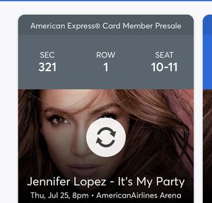 Jennifer López 2 concert tickets for Sale in Miami, FL