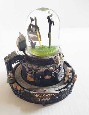 NIGHTMARE BEFORE CHRISTMAS SNOWGLOBE Musical Halloweentown Light Up for Sale in Phoenix, AZ
