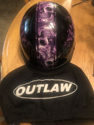 Motorcycle Helmet. Size medium. Worn one time. Has vision shield for Sale in Natrona Heights, PA