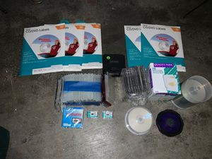 CD/DVD labeling kit with jewel cases and disks. for Sale in Lake Stevens, WA