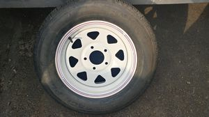 Trailer Replacement / Spare Tire with NEW TIRE Hankook P215/65R15 95S for Sale in Hillsboro, OR