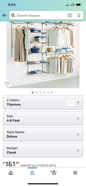 Rubbermaid Configurations Deluxe Custom Closet Organizer for Sale in Portland, OR