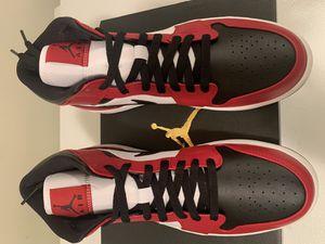 New Air Jordan 1 Mid Chicago Black Toe SZ 10 for Sale in Greencastle, PA