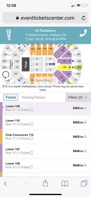 2 Tickets to el fantasma for Sale in Stockton, CA