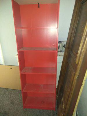 Red bookshelves 2 for 60 for Sale in San Bernardino, CA