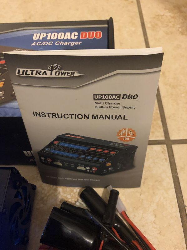 UP100AC DUO Charger Power Max 100W -CH1 /Max 50W -CH2 for LiIon/LiPo/LiFe/Li-Hv
