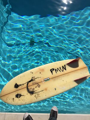Deepest reaches twin fin Simmons fish surfboard surf for Sale in San Clemente, CA