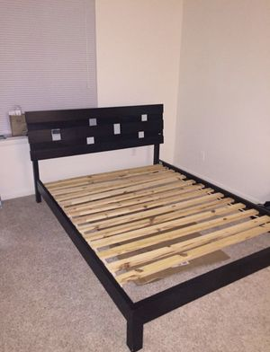 Queen size bed frame with mattress if you needed for Sale in Alexandria, VA