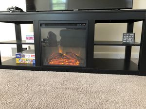"Rickard TV Stand for TVs up to 65"" with Fireplace Included for Sale in Elkins Park, PA"