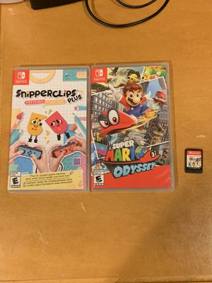Nintendo Switch Games Super Mario Odyssey, Snipperclips Plus and Super Bomberman R for Sale in Surprise, AZ