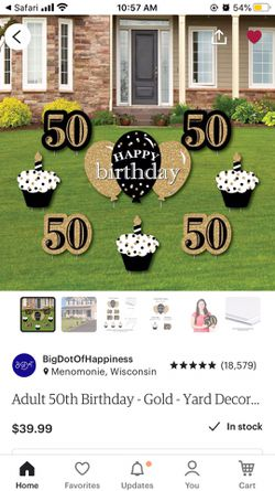 50th birthday yard signs for Sale in Springfield,  IL