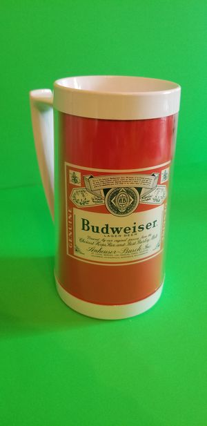 Vintage Budweiser Thermo Serv Beer Stein Red Label Insulated Plastic Pint Mug for Sale in Milton, PA