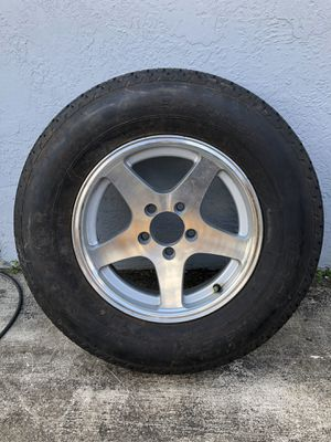 Trailer tire. Brand new. Never used. Aluminum rim. only one rim and tire for Sale in Hialeah, FL