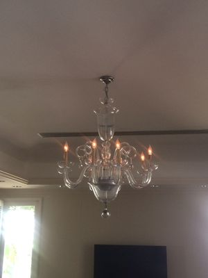 Glass chandelier for Sale in Honolulu, HI