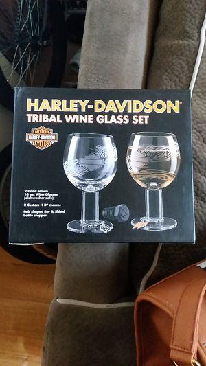 Harley Davidson wine glases for Sale in Portland, OR