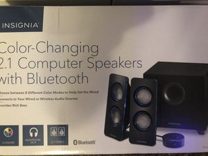 Color changing 2.1 computer speakers with Bluetooth for Sale in Corpus Christi, TX