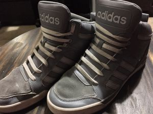 Adidas (Men's) Raleigh 9Tis Mid High-Top Shoes Size 10, Gray for Sale in Los Angeles, CA