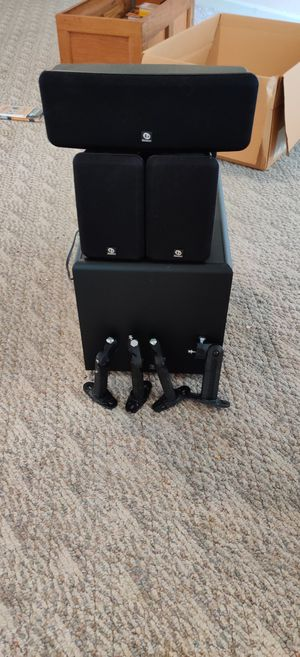 5 +1 Boston acoustics surrounding sound speakers center and subwoofer and hardware for Sale in Murfreesboro, TN