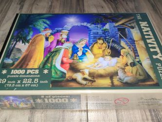 The Nativity Puzzle 1000 Pieces by Gemstone 29in x 22.5in for Sale in Cornelius,  OR