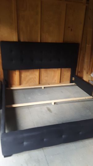 King bed frame, but will convert into day bed that will fit a twin mattress for Sale in Greenville, SC