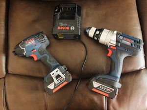 18v Bosch impact driver and drill and charger for Sale in Nashua, NH