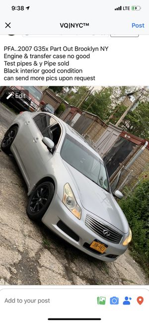 Infiniti G35/G37 PART OUT for Sale in Brooklyn, NY