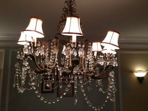 Brass and crystal chandelier for Sale in Chicago, IL