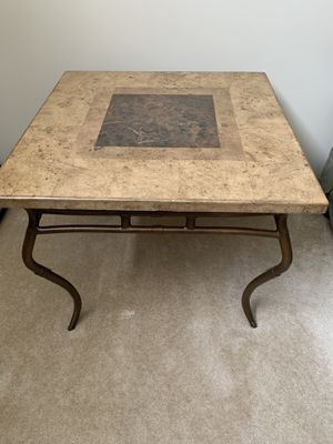 SIDE TABLES. STONE. (2). $100 each / $200 both for Sale in Brunswick, OH