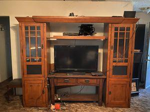 Entertainment Center TV Console for Sale in Fresno, CA