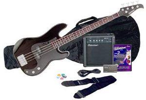 Silvertone LB11 Bass Guitar & Amp Package, Liquid Black - SSLB11PK-BK for Sale in Monroe, WA