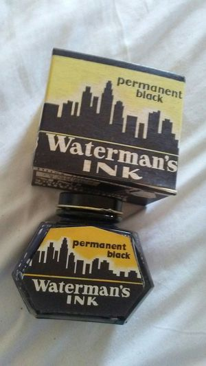 1- Vintage Waterman's terman's Permanent Black ink bottle! No.772 - Never used! Box and bottle are in excellent condition! for Sale in Pen Argyl, PA