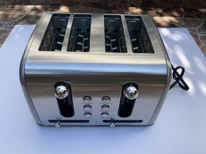 Brentwood Select Extra Wide Slot 4-Slice Toaster, Stainless Steel for Sale in Azusa, CA